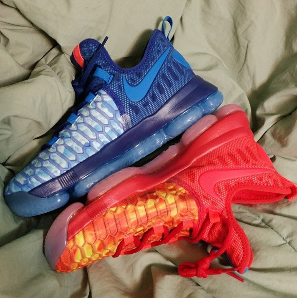 new styles d7c05 27f71 Nike Zoom KD 9 Fire   Ice GS 6.5Y Kevin Durant New